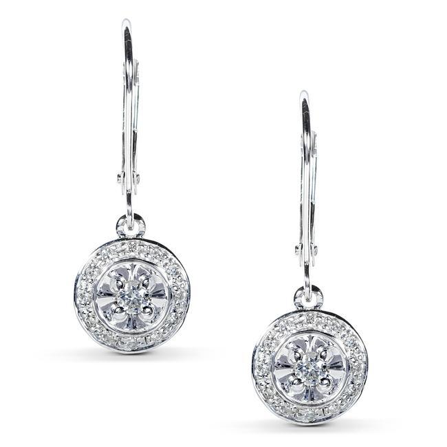 14k White Gold 1/4ct TDW Diamond Earrings (H-I, I1-I2)