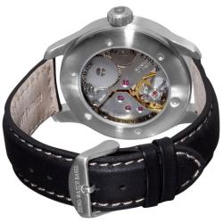 Zeno Men's 'XL Pilot Winder' Black Strap Mechanical Watch