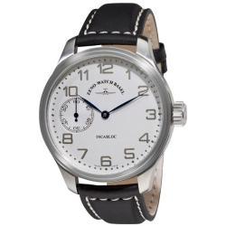 Zeno Men's 'XL Pilot Winder' Black Strap Mechanical Watch
