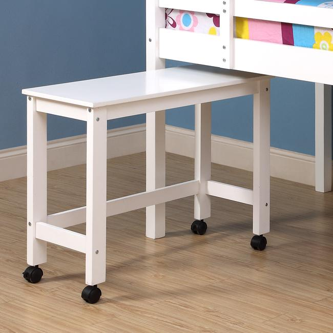 solid wood white twin size loft bed with desk 13755800 overstock