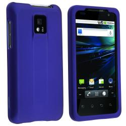 Dark Blue Rubber Coated Case for LG G2X