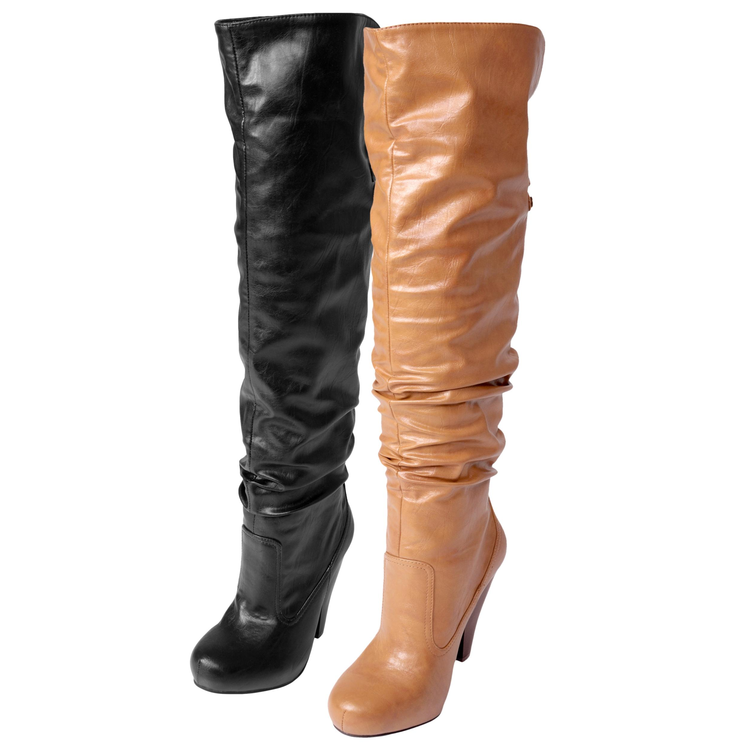 Journee Collection Women's 'Brenda-29' Slouchy Over-the-knee Boots
