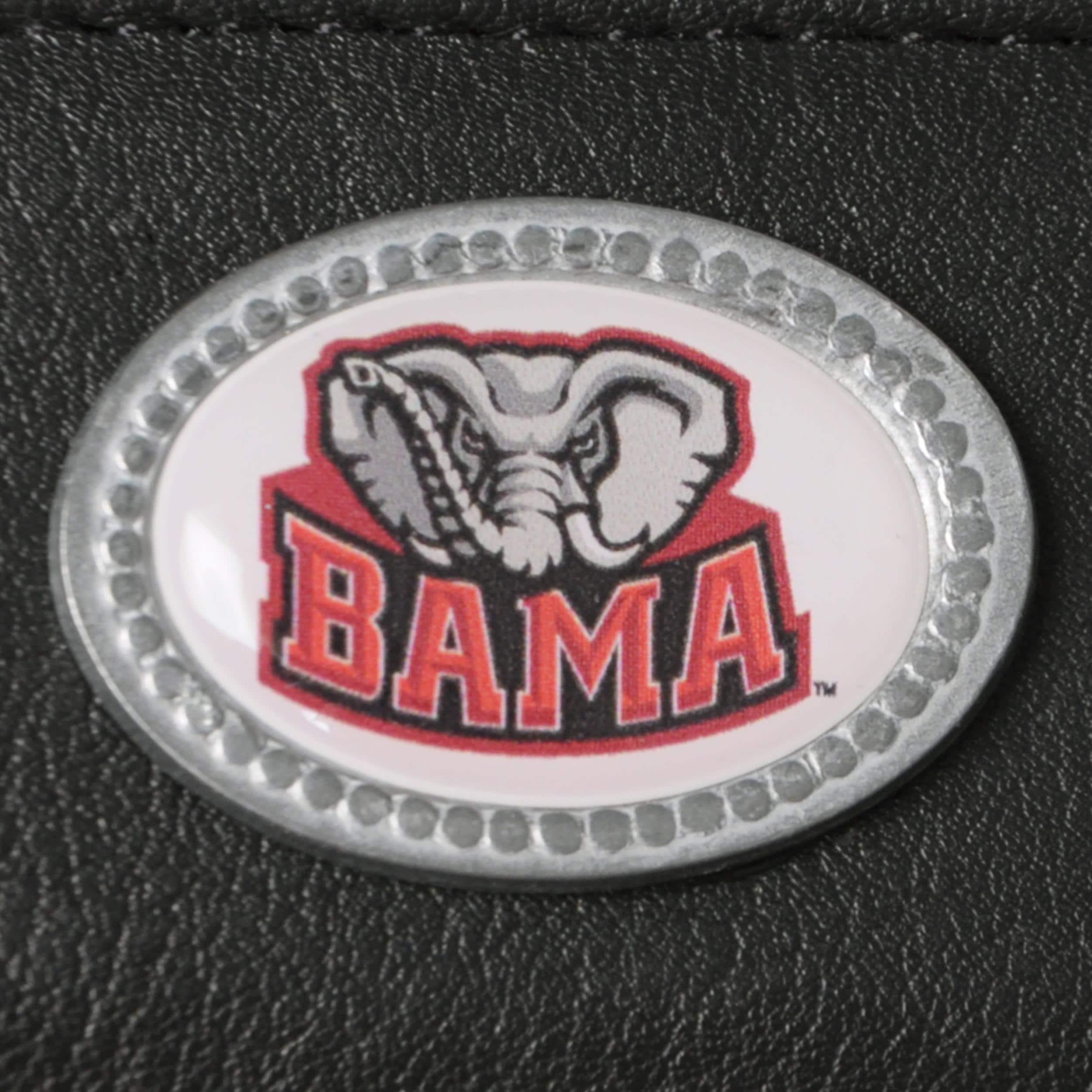 Mens Alabama Crimson Tide NCAA Genuine Leather Money Clip