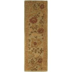 Safavieh Handmade Far East Sage Wool Rug (2'3 x 7'6)