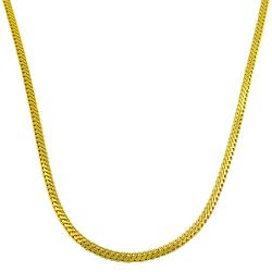 Fremada 14k Yellow Gold 18-inch Foxtail Chain Necklace
