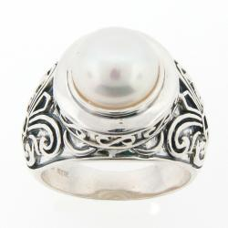 Meredith Leigh Sterling Silver Freshwater Pearl Ring