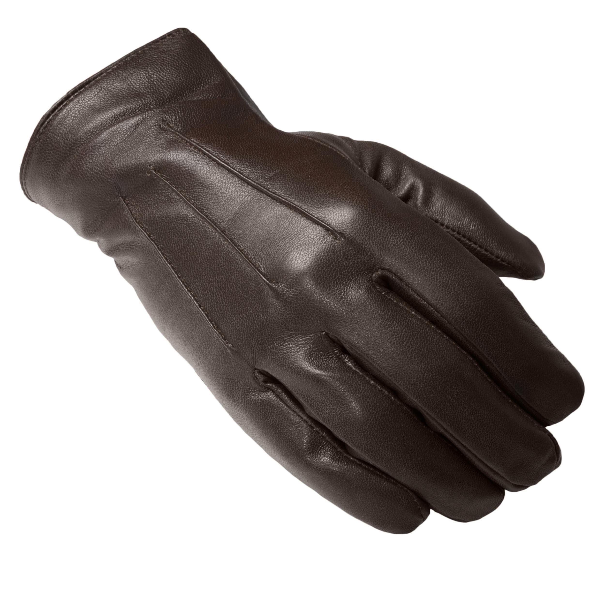 Boston Traveler Men's Genuine Leather Thinsulate Lined Gloves