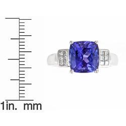 D'Yach 14k White Gold Tanzanite and 1/4ct TDW Diamond Ring (G-H, I1-I2)
