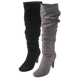 Journee Collection Women&#39;s &#39;SLC-08&#39; Slouchy Heeled Boots