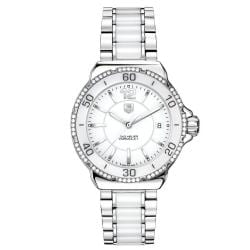 TAG Heuer Women's 'Formula 1' Stainless Steel Ceramic Diamond Watch