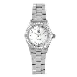TAG Heuer Women's Aquaracer Stainless Steel Diamond MOP Dial Watch