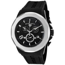 Swiss Legend Men's Monte Carlo Black Dial Black Silicone Chrono Watch