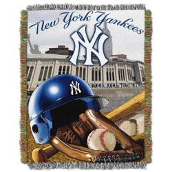 Northwest New York Yankees Woven Jacquard Acrylic Baby Blanket