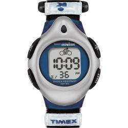 Timex Kids' T71962 IronKids Digital Blue Fast Wrap Velcro Strap Watch