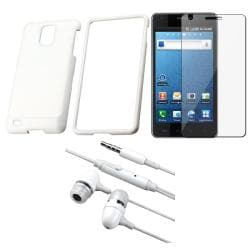 White Case/ Screen Protector/ Headset for Samsung Infuse 4G