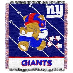 Northwest New York Giants Woven Jacquard Acrylic Baby Blanket