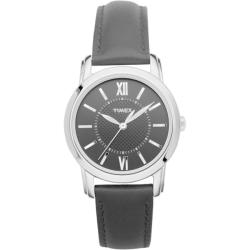 Timex Women's T2N681 Elevated Classics Dress Uptown Chic Leather Strap Watch