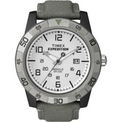 Timex Men's T49864 Expedition Rugged Analog Grey/Green Canvas Strap Watch