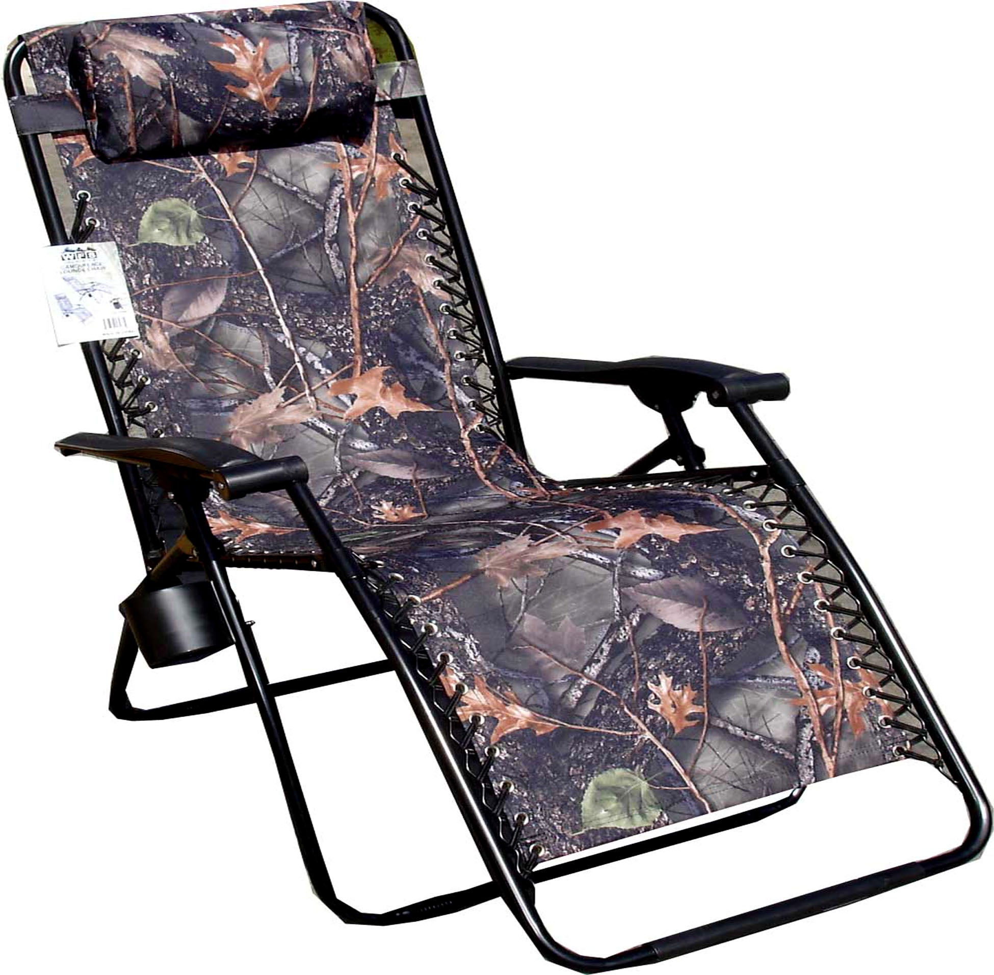 Camo Lounge Chair: Jumbo Camo Zero Gravity Reclining Camp Chair
