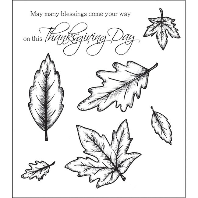 Heartfelt Creations 'Open Falling Leaves' Stamps