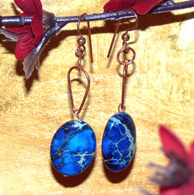 Susen Foster Copper Horizon Blue Variscite Earrings