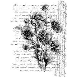 Penny Black 'Words Like Flowers' Wood-mounted Rubber Stamp