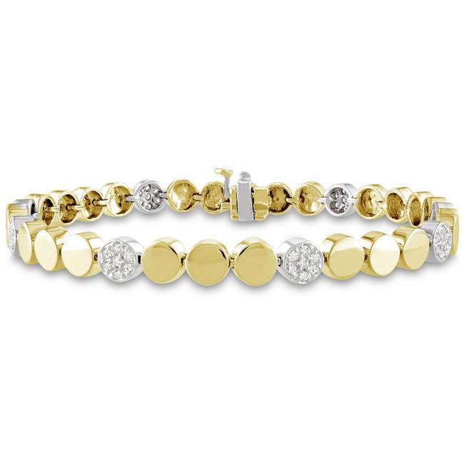 Miadora 14k Yellow Gold 1/2ct TDW Diamond Bracelet (G-H, SI1-SI2)