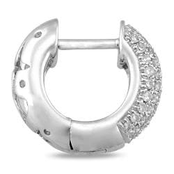 Miadora 10k White Gold 1/2ct TDW Diamond Cuff Earrings (G-H, I1-I2)