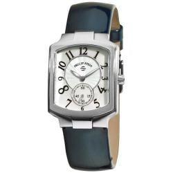 Philip Stein Women's Classic Stainless-Steel Blue Strap Watch