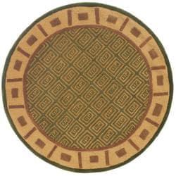 Safavieh Handmade Passage Green Wool Rug (5' Round)