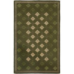 Safavieh Handmade Diamonds Grey Wool Rug (8'3 x 11')