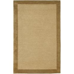 Handmade New Zealand Wool Solo Beige Rug (3'6 x 5'6')