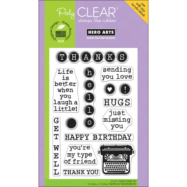 Hero Arts 4x6-inch 'Type' Clear Stamps Sheet