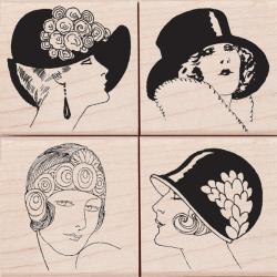 Hero Arts 'Fancy Hats' Mounted Rubber Stamp Set