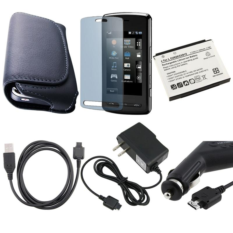 6-piece Case/ Chargers/ Battery/ Screen Protector for LG Vu CU920