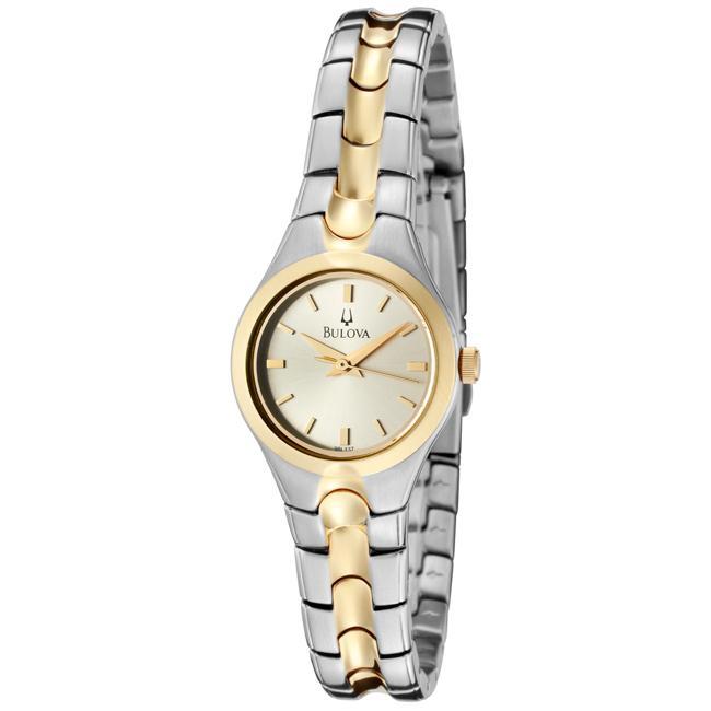 Bulova Women's Champagne Sunray Dial Two-tone Watch