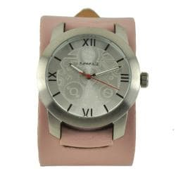 Nemesis Elite Pink Leather Cuff Watch