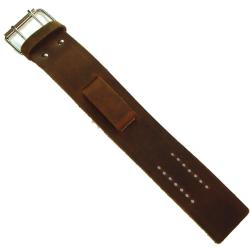 Nemesis Medium Embossed Strip Brown Watch Band