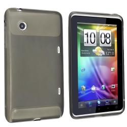 Clear Smoke TPU Rubber Case for HTC Flyer