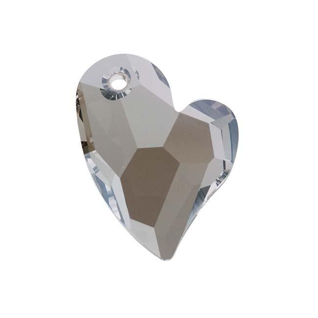Beadaholique Crystal Satin 27mm Devoted 2 U Heart Pendant