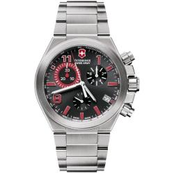 Victorinox Swiss Army Men's 'Convoy Chrono' Black and Grey Watch