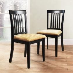 Wilmington Black Mission Back Dining Chair (Set of 2)