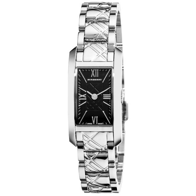 Burberry Women's 'Check Engraved' Stainless Steel Watch
