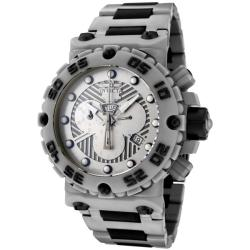 Invicta Men's Subaqua Grey Stainless Steel & Black Rubber Chrono Watch