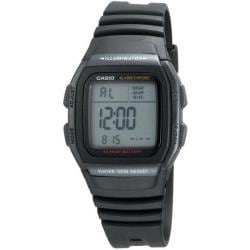 Casio Men&#39;s Classic Alarm Chrono Black Rubber Strap Watch
