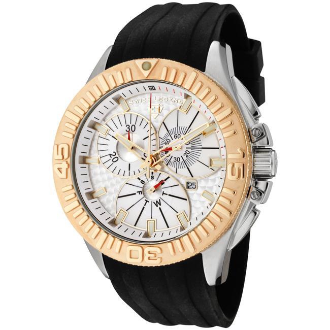 Swiss Legend Men's Evolution Black Silicone Chronograph Watch