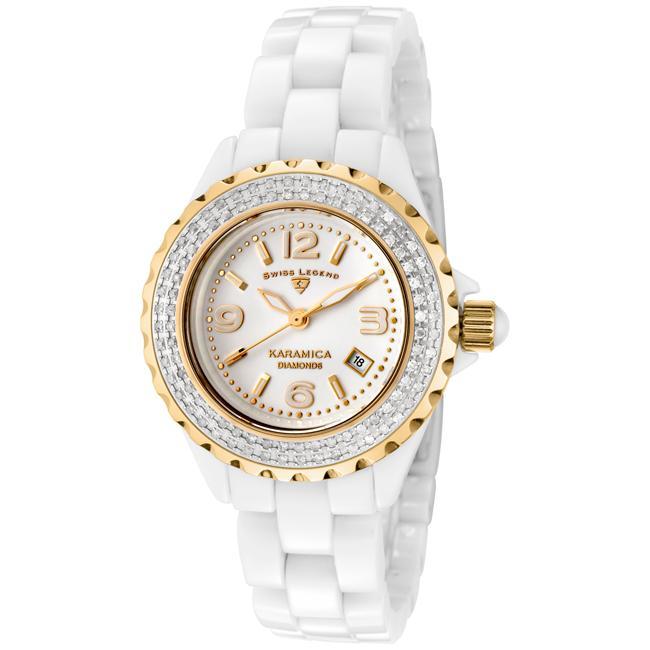 Swiss Legend Women's Karamica White High-Tech Ceramic Diamond Watch