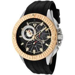 Swiss Legend Men's Evolution Black Silicone Chronograph Watch