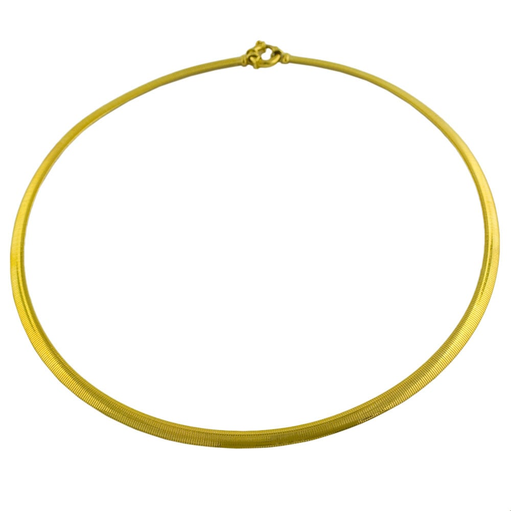 14k Yellow Gold 17-inch Omega Chain Necklace