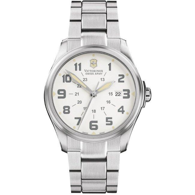 Swiss Army Men's 'Infantry' Vintage White Dial Watch